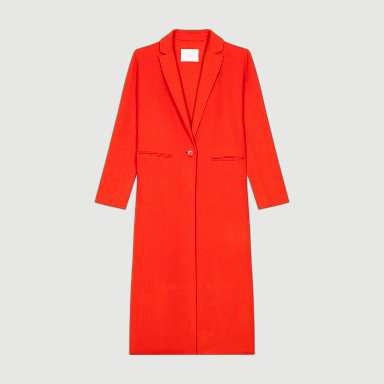 Manteau long double face : Manteaux couleur Orange