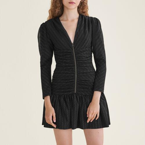 Robe courte drapée : Robes couleur Black