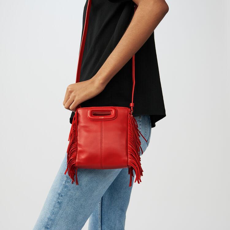 Sac M Mini en cuir avec franges : Tout voir couleur RED
