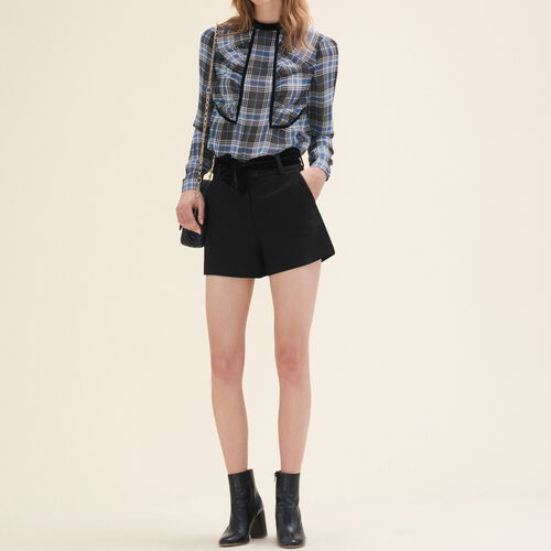 Floaty checked blouse : See all color PRINTED