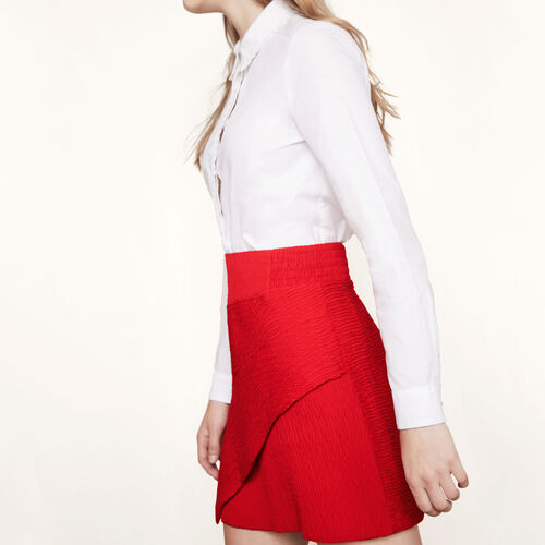 Asymmetric short skirt : Skirts & Shorts color Red