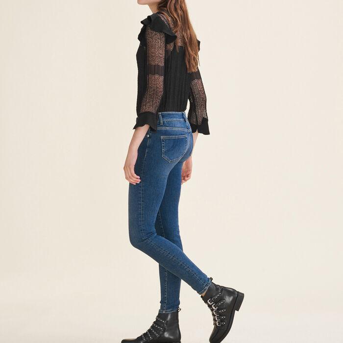 Jean slim délavé : Pantalons & Jeans couleur Bleu