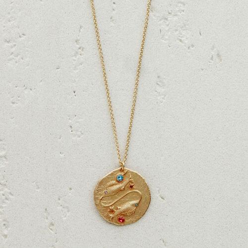 Collier Poisson signe du zodiaque : Bijoux couleur OR