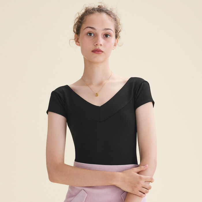 Body à manches courtes : T-Shirts couleur Black