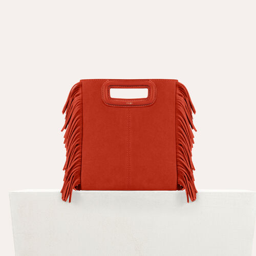 Suede M bag : M bag color Orange