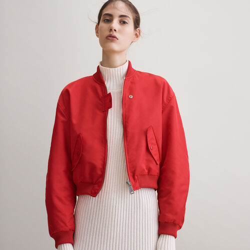 Cropped reversible bomber jacket - Jackets - MAJE