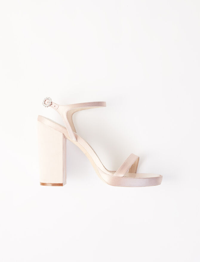 Sandales à talons en satin - Escarpins - MAJE