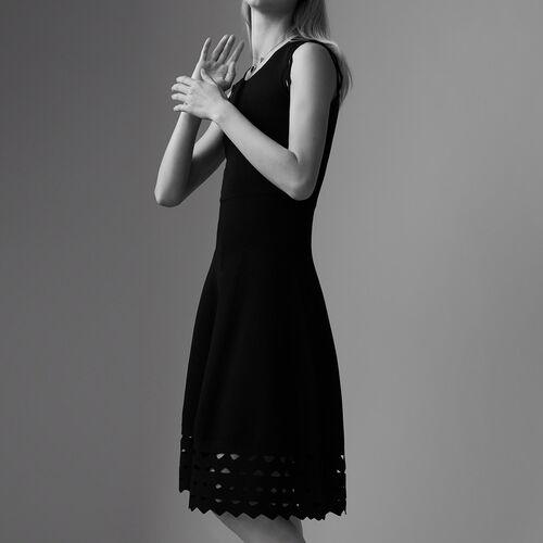 Robe en maille ajourée : Robes couleur Black