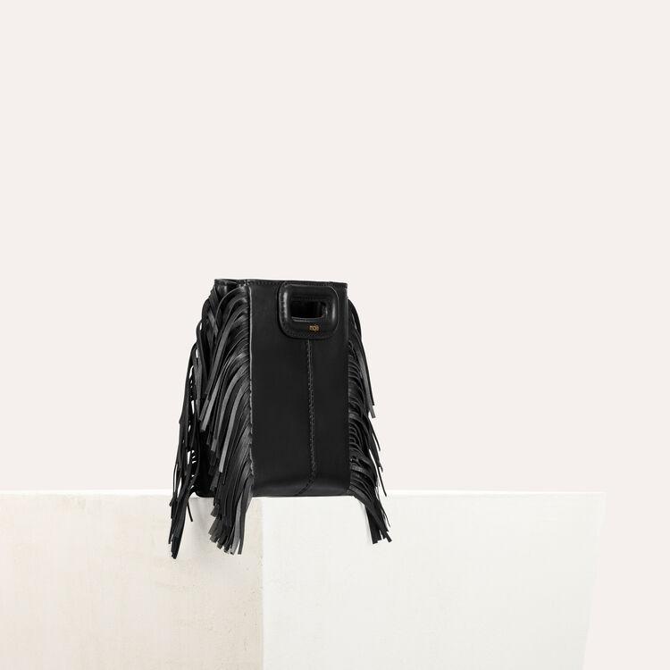 Sac M Mini en cuir avec chaîne : Sacs M couleur BLACK