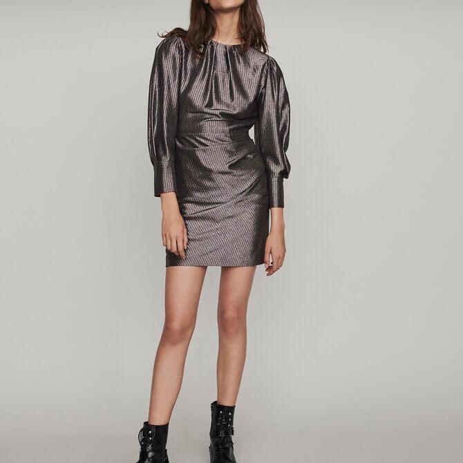 Yoke dress in Lurex - staff private sale 20 - MAJE