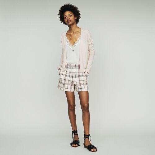 Cashmere cardigan : Knitwear color NUDE