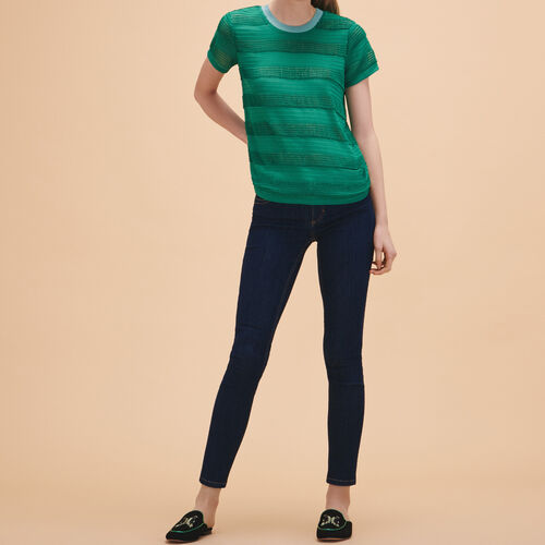 Knitted string top - Tops - MAJE