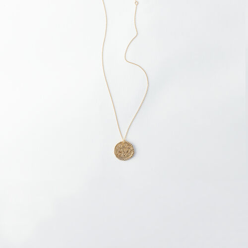 Libra zodiac sign necklace : All accessories color Old Brass