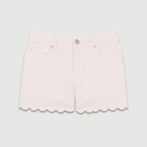 Short en jean avec découpes fantaisie : Jupes & Shorts couleur ROSE