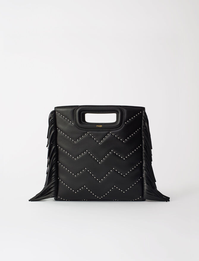 Studded quilted leather M bag -  - MAJE