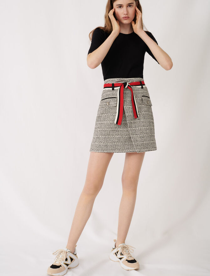 Tweed-style wrap skirt - See all - MAJE