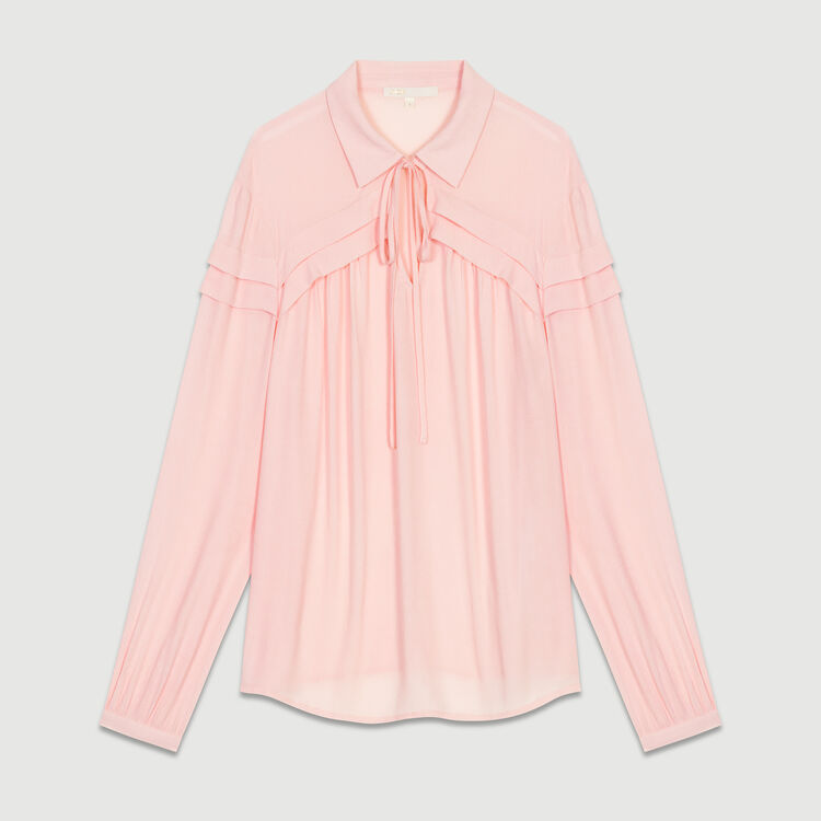 Blouse col chemise : Tops couleur LILA