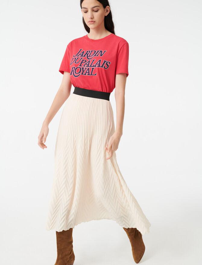 Jupe plissée géométrique - Jupes & Shorts - MAJE