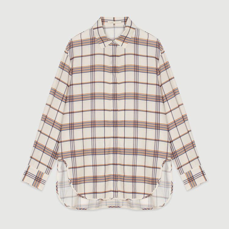 Chemise loose à carreaux : Tops & Chemises couleur CARREAUX