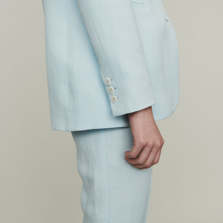 Suit jacket in wool blend : Blazers color White