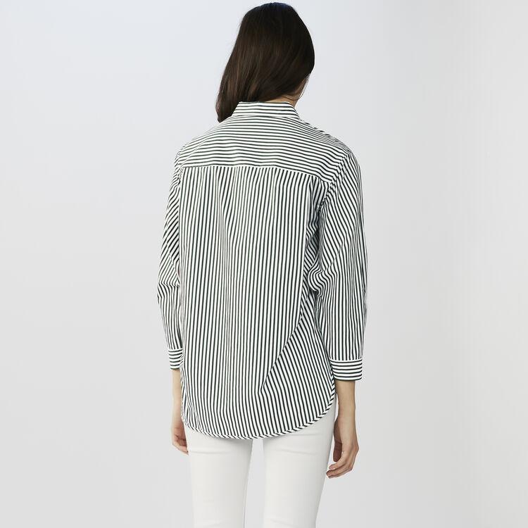 Chemise rayée en coton : Chemises couleur Rayure