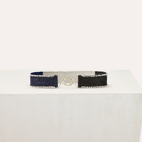 Bicolor pearled belt : Belts color Multico