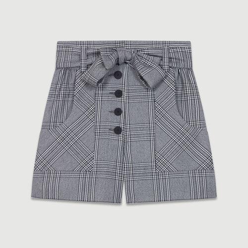 Short à imprimé prince-de-galles : Jupes & Shorts couleur CARREAUX