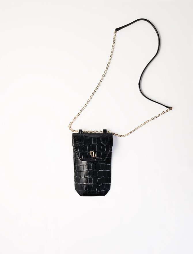 Embossed leather phone case - Arlissa's story - MAJE