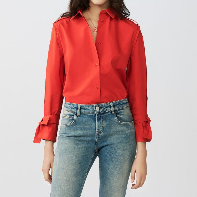 Chemise avec détails travaillés : Chemises couleur Rouge