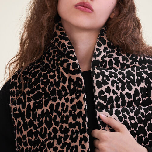 Leopard print quilted scarf : Accessories color PRINTED