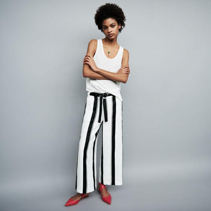 Pantalon large à rayures : Pantalons couleur Rayure