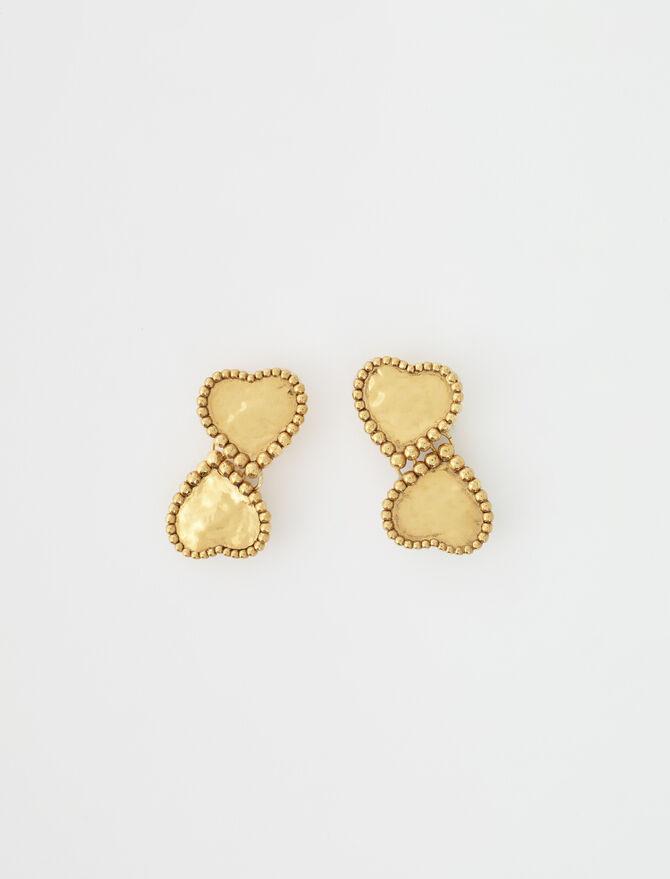Boucles d'oreilles coeurs dorés -  - MAJE