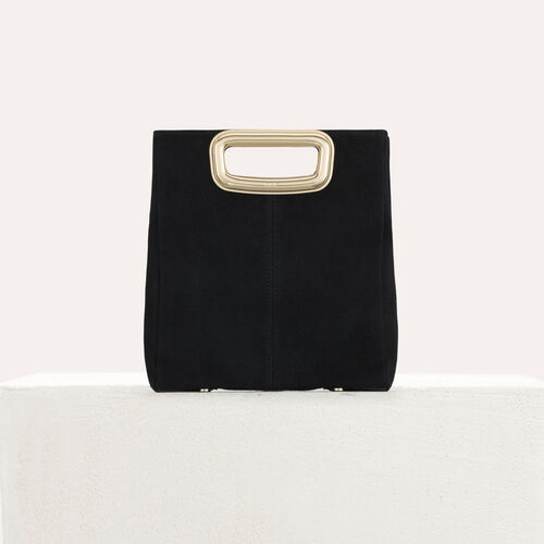 M Mini Skin bag in suede and metal : M Skin color Black 210