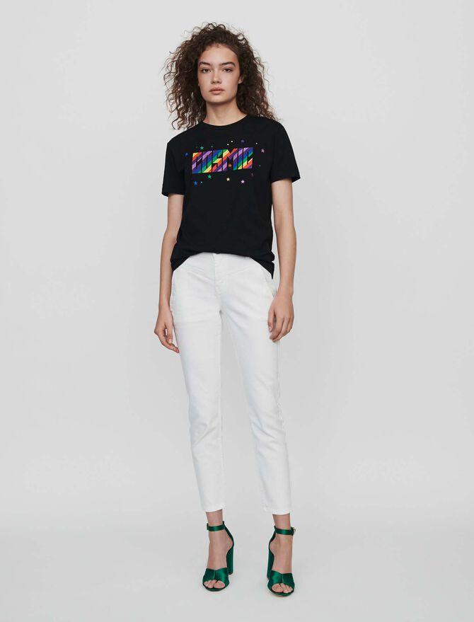 Embroidered tee shirt - T-Shirts - MAJE