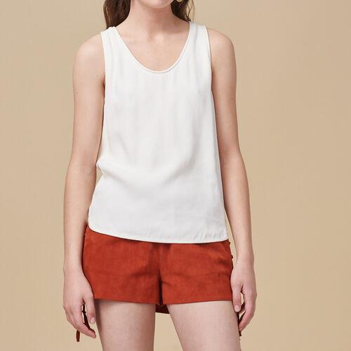 Débardeur en crêpe : Tops & Chemises couleur ECRU