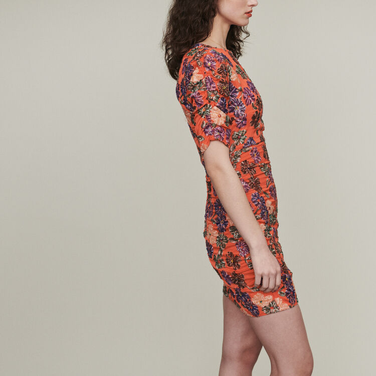 Robe brodée de sequins : Robes couleur Corail