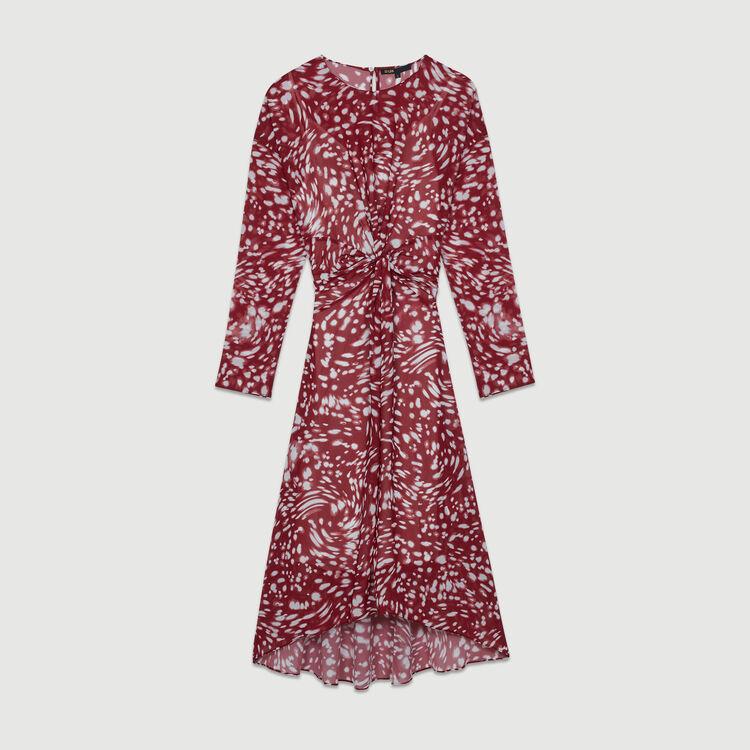Robe asymétrique imprimée avec drapé : Prêt-à-porter couleur IMPRIME