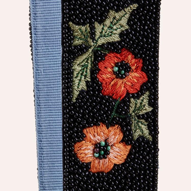Bandoulière amovible brodée de perles : Accessoires couleur MULTICO