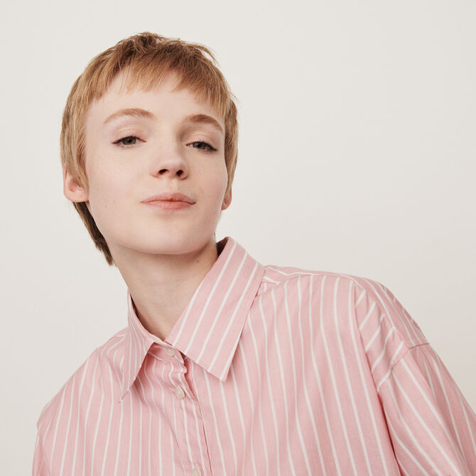 Oversized striped shirt - staff private sale 20 - MAJE