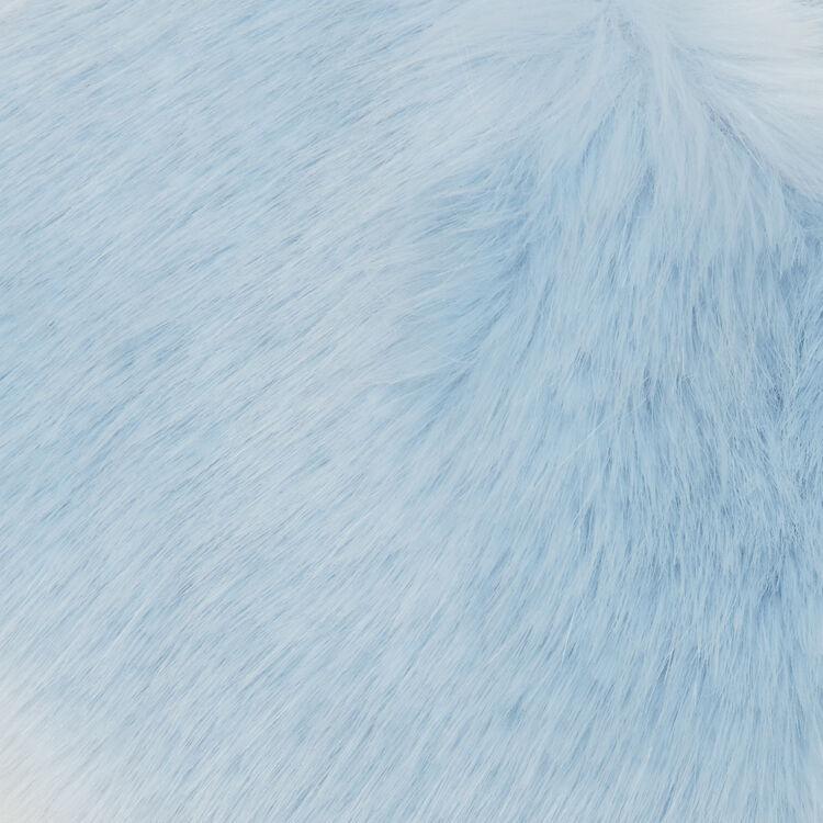 Col-écharpe en fausse fourrure : Châles & Ponchos couleur BLEU CIEL