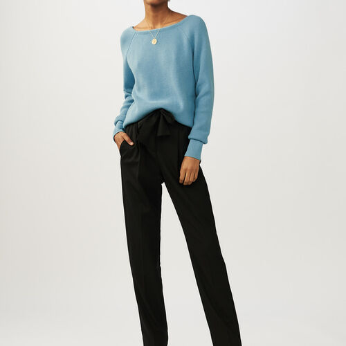 V-back sweater : Knitwear color Blue Sky