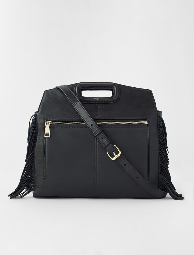 Leather M Walk bag -  - MAJE