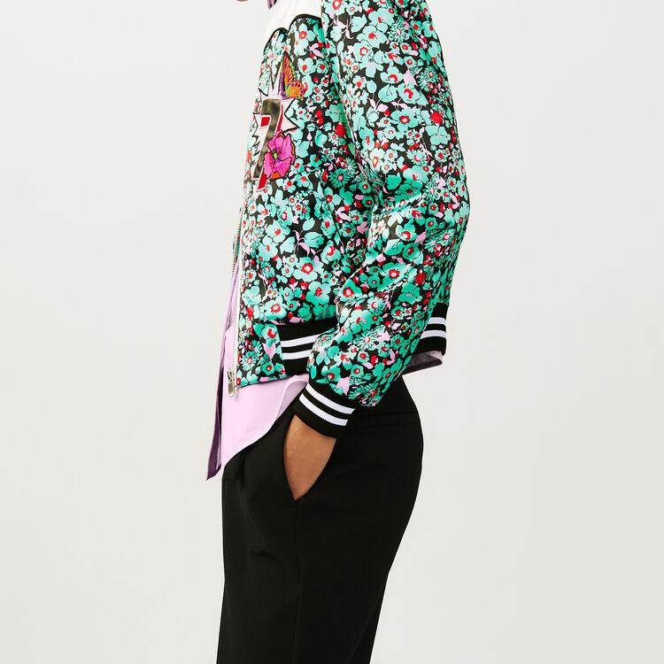 Bomber multicolore avec imprimé floral : Blousons couleur IMPRIME