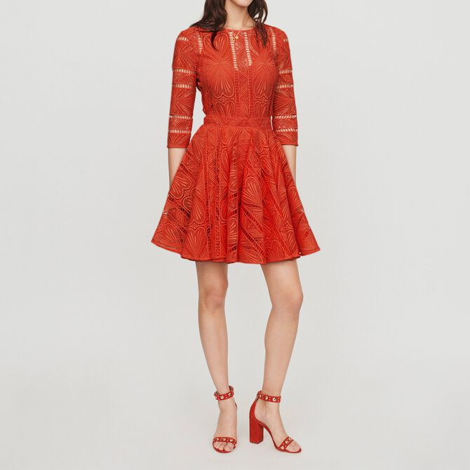 Short dress in guipure - See all - MAJE