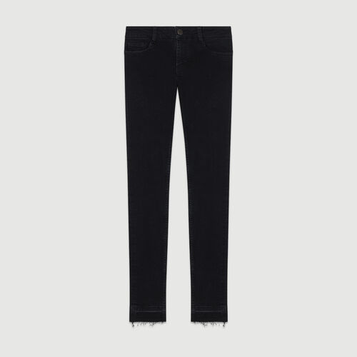 Jean slim  : Jeans couleur ANTHRACITE