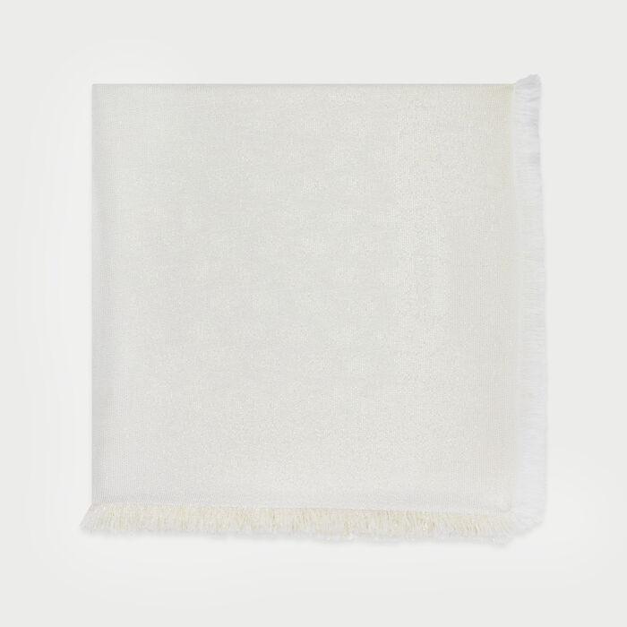 Châle avec motif M en lurex : New in : Collection Été couleur BLANC CASSE