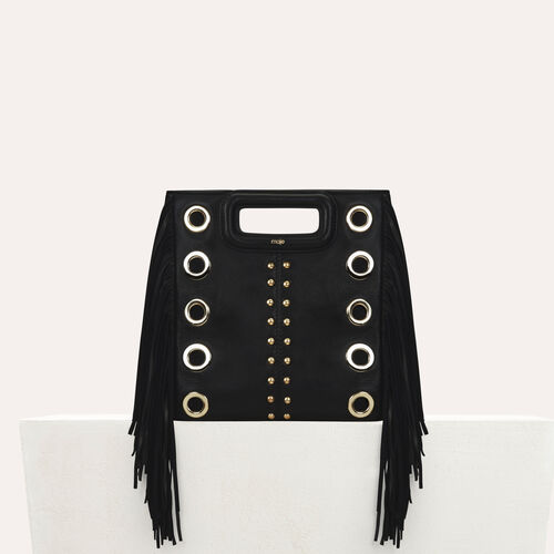 Sac M en cuir et studs : Office girl couleur Black