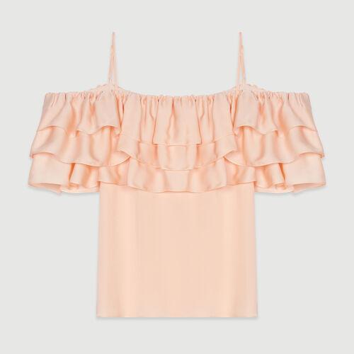 Top bretelles à volants : Tops & Chemises couleur Mandarine
