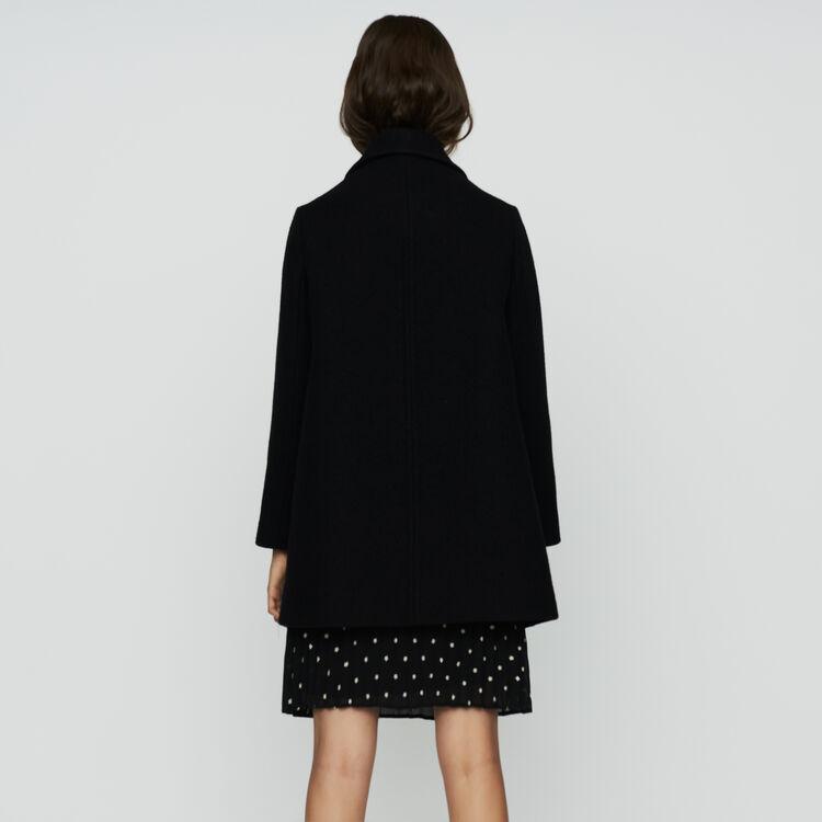 Manteau trapèze en laine : Prêt-à-porter couleur Black