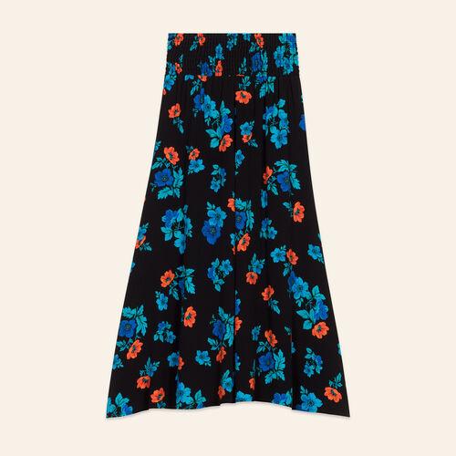 Jupe avec broderies florales : Jupes & Shorts couleur IMPRIME